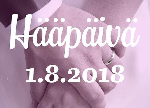 Mennään naimisiin 1.8.2018