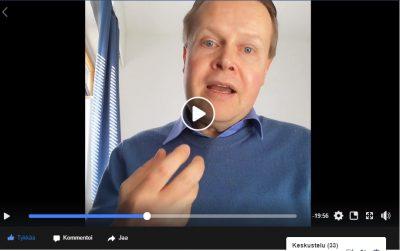 Kuvakaappaus Jukka Kääriäisen esityksestä Kirkon lähetystyön keskuksen virtuaalisesta symposiumista huhtikuussa 2020