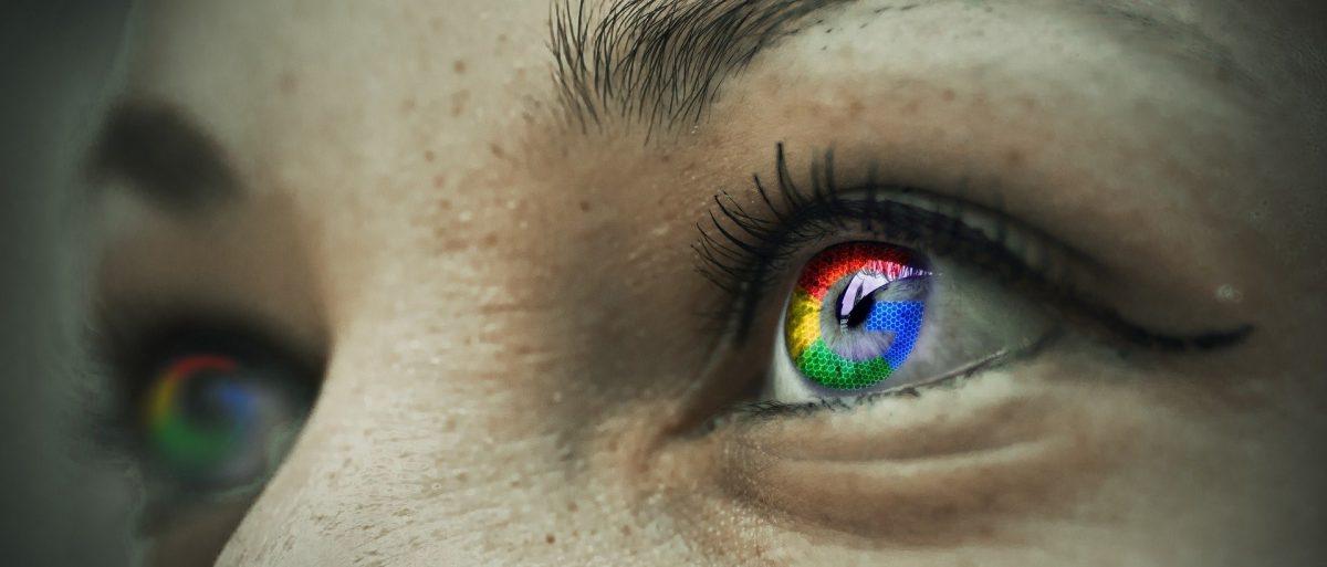 Kuvituskuva henkilön silmistä, joista heijastuu tietokoneen ruutu.
